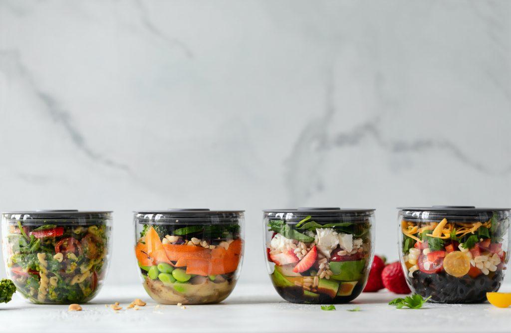 simple meal prep salad jars