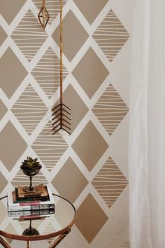 brown neutral tone wall painting