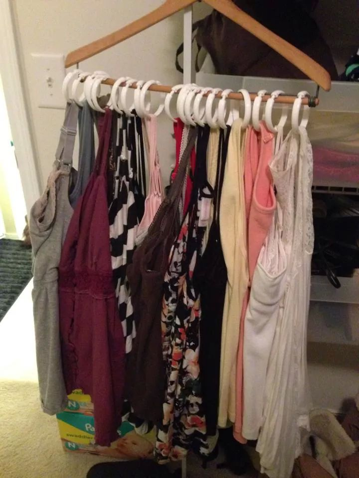 life hack closet organze with shower curtains