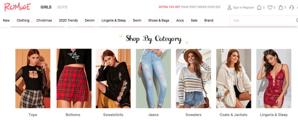 Romwe cheap clothes online