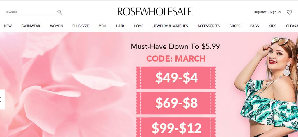 Rose Wholesale cheap clothes online