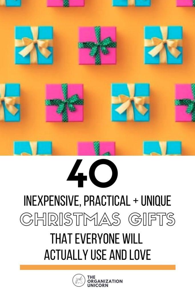 inexpensive and useful christmas gifts