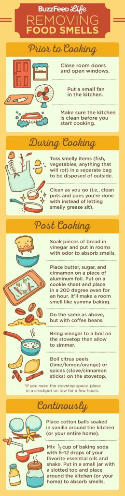 remove odors hack infographic